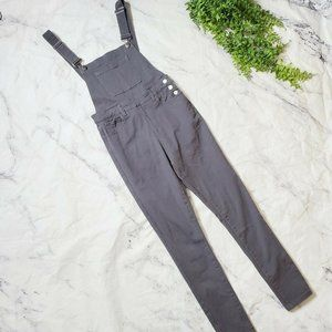 We Wore What Gray Stretch High Rise Skinny Overall